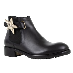RED Valentino Winter Star Buckle Leather Black Boots
