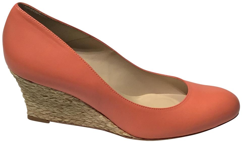 3fe57aa89f0 L.K. Bennett Orange - Cantaloupe Zella Leather Espadrille Wedges ...