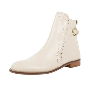 RED Valentino Winter Leather Cream Boots