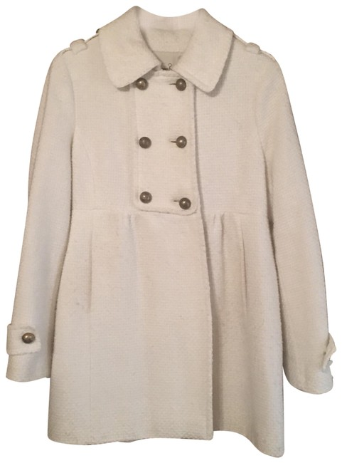 Item - White Double Breasted Coat Size 12 (L)