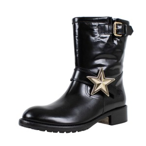 RED Valentino Winter Patent Leather Star Black Boots