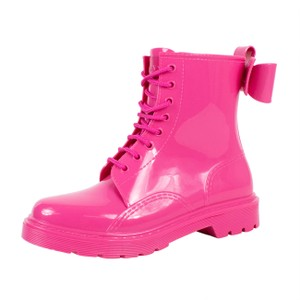 RED Valentino Winter Rubber Rain Pink Boots