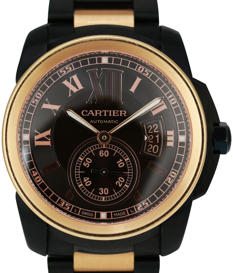 e057e63b191 Cartier CARTIER Men s Calibre de Cartier 3389 18K Rose Gold Steel PVD 42mm  ...