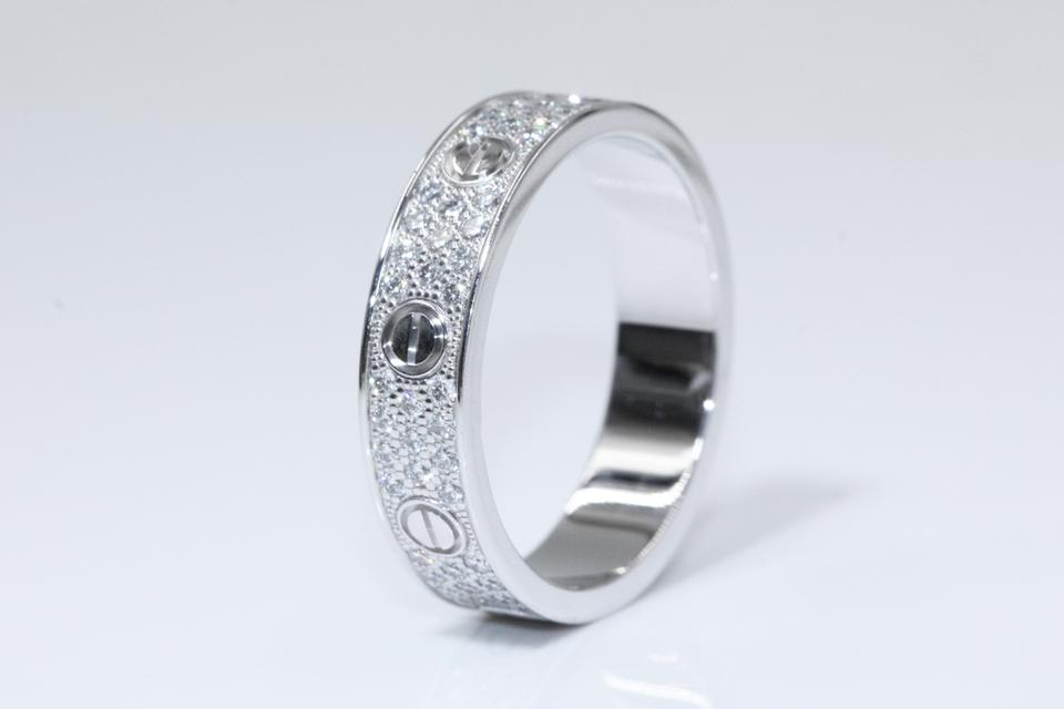 af497f69eb3 Cartier Love Wedding Band Diamond-paved White Gold Ring - Tradesy
