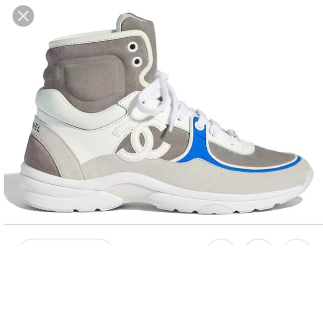 Item - Blue High Top White Gray Sold Out Flats Sneakers Size EU 38.5 (Approx. US 8.5) Regular (M, B)