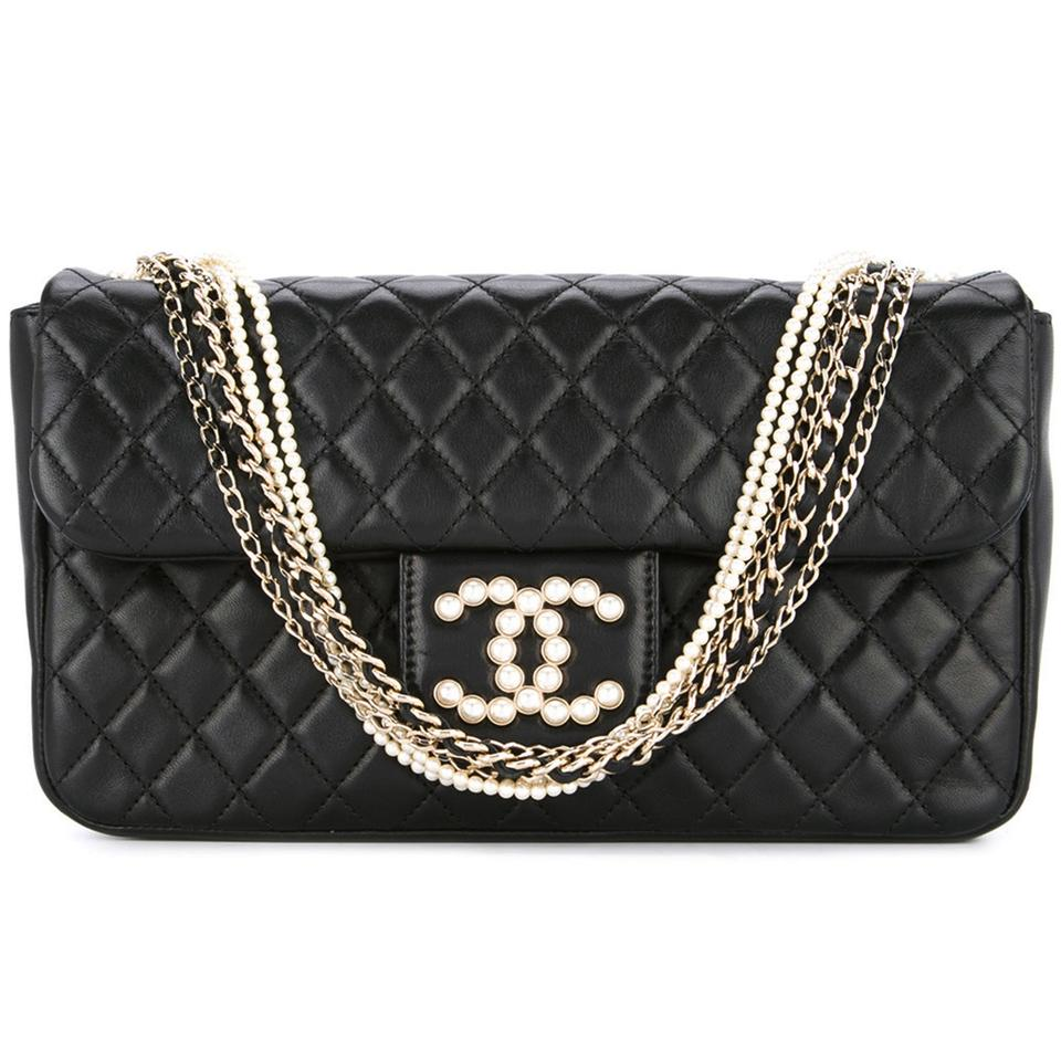 1fd529ce17a6 Chanel Westminster Pearl Classic Flap Limited Edition Satchel in Black  Image 0 ...