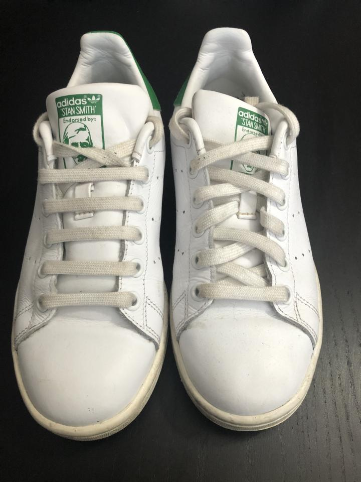 wholesale dealer a2944 62506 adidas White and Green Stan Smith Sneakers Size US 6 Regular (M, B)