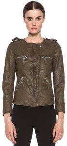 Isabel Marant army green Leather Jacket