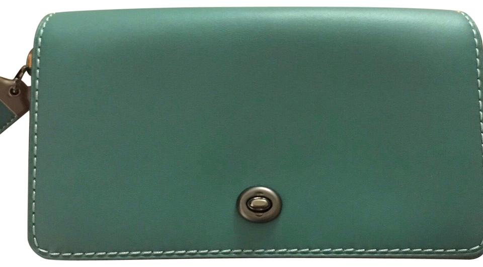 6f305781b28b5 Coach 1941 New with Tag Dinky Green and Yellow Colorblock Calfskin Leather  Cross Body Bag - Tradesy