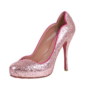 RED Valentino Mon Coeur Sparkle Pink Pumps