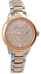 Burberry Brand New Burberry Women's Swiss Classic Round Two-Tone Watch BU10117