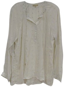 Democracy Embroidered Top White