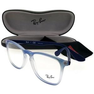 Ray-Ban RX7074-5601-52 Youngster Unisex Blue Frame Clear Lens Eyeglasses