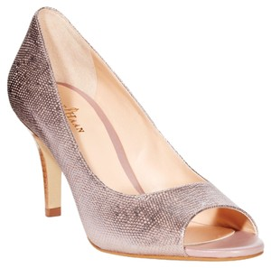 Cole Haan Bark Metallic Dusty Pink Lizard Pumps