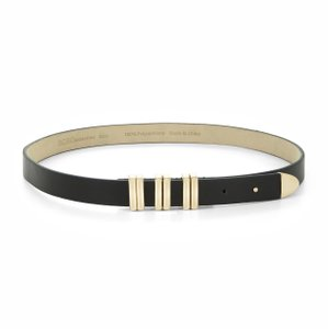 BCBGeneration BCBG Black Gold Colored Faux Leather Belt