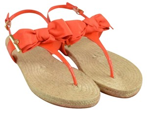 Tory Burch Thong Buckle 8 Poppy Red Sandals