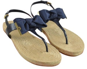 1ad82731ff8 Tory Burch Perfect Navy Penny Flat Thong In Sandals Size US 8.5 ...