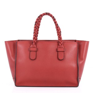 Valentino Leather Tote in red