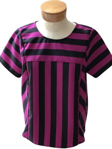Marc by Marc Jacobs Top Fuschia and Black