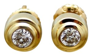 Gold 14k Yellow Gold Diamond Stud Earrings