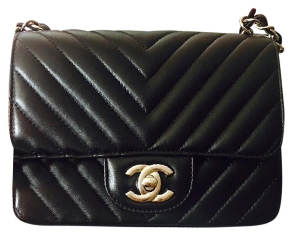 ebfe7904731761 Chanel Classic Rare Timeless Chevron Quilted Mini Square Flap with ...