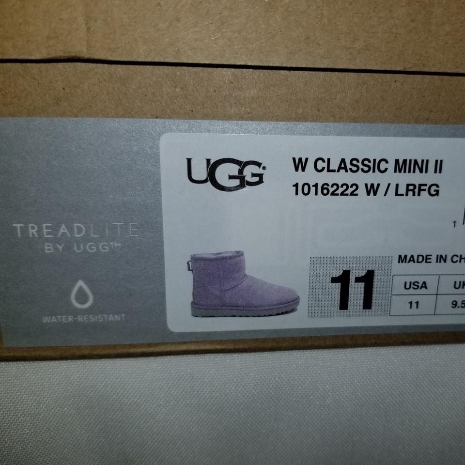 1748e93c6ac UGG Australia Lavender Fog Mini Ii Water Resistant Boots/Booties Size US 11  Narrow (Aa, N) 28% off retail