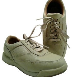 Rockport Walkingshoes Leather Taupe Athletic