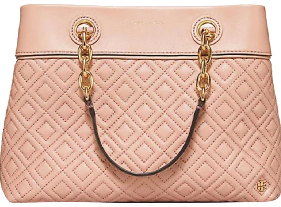 5f266e4605a Tory Burch Fleming Small Tote New Mink Leather Satchel - Tradesy
