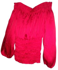 Forever 21 Romantic Poet's Gothic Top Red