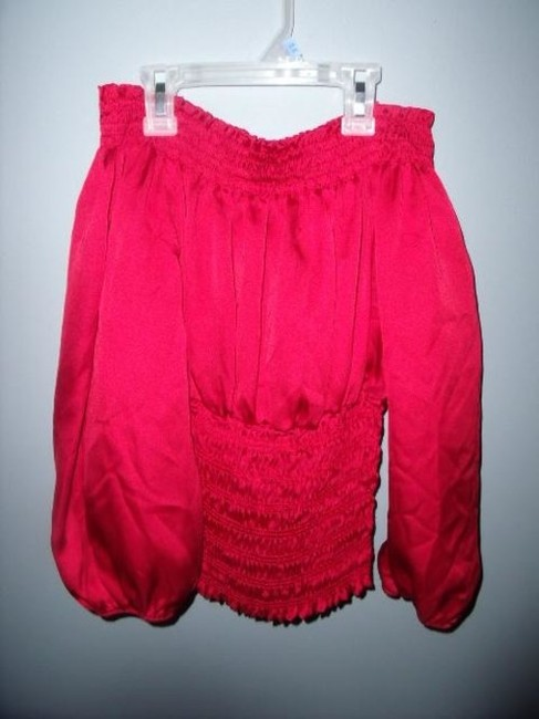 Forever 21 Romantic Poet's Gothic Hippie Gypsy Top Red