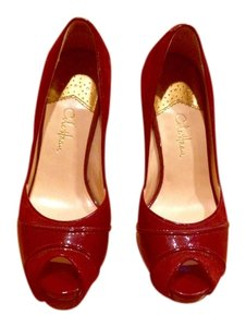 Cole Haan Pump Peep Toe Bordeaux Pumps