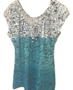 Dress Barn Top Blue and White