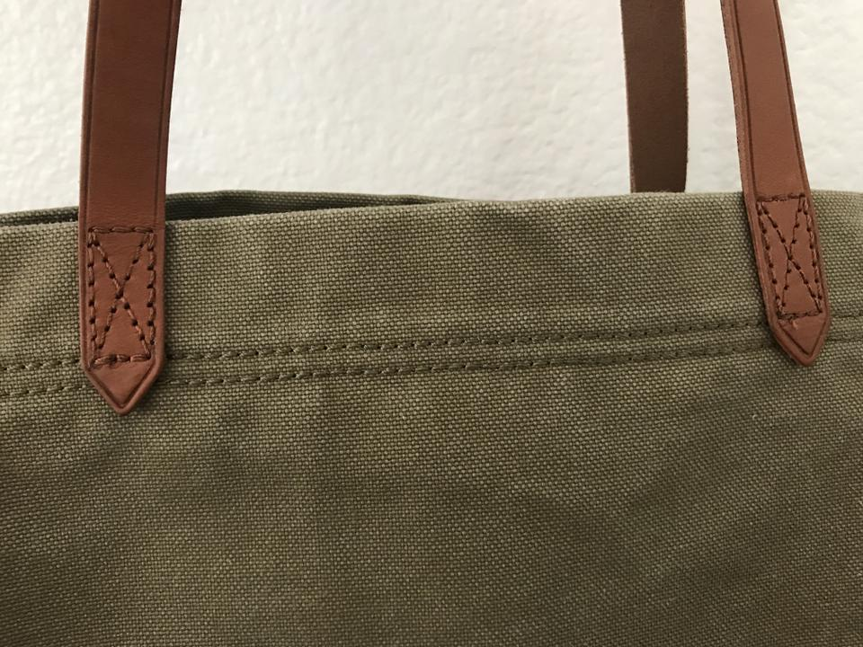 977aa51e0 Madewell Transport British Surplus/Light Olive Canvas Tote - Tradesy