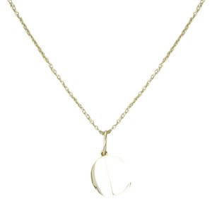 "Sydney Evan Pure ""C"" Necklace 14K Yellow Gold 18"" Adjustable"