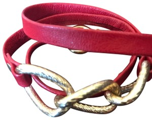 Gorjana Gorjana Parker red leather wrap bracelet.