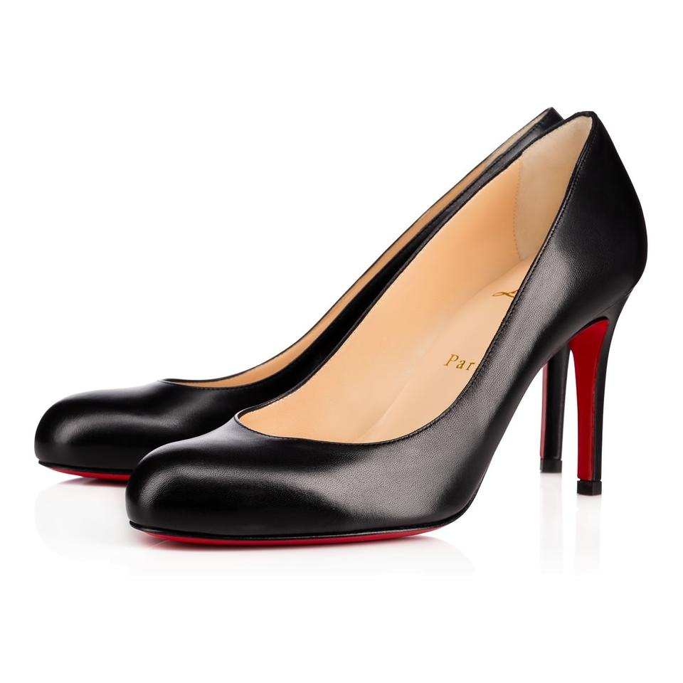 check out 7bfbf 9a814 Christian Louboutin Black Simple 85 Kid Leather Classic Stiletto Low Heel  Pumps Size EU 35.5 (Approx. US 5.5) Regular (M, B)