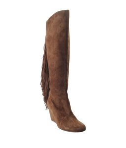 Christian Louboutin Knee - High Suede Brown Boots