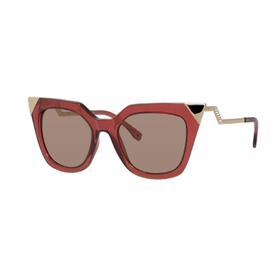 e9cf0f684b Fendi Red Iridia Cat Eye Sunglasses - Tradesy