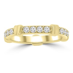 Madina Jewelry Yellow 0.65 Ct Ladies Round Cut Diamond Eternity Band 14k Ring