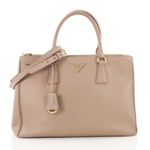 Prada Double Leather Tote in Mauve