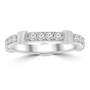 Madina Jewelry White 0.65 Ct Ladies Round Cut Diamond Eternity Band Ring