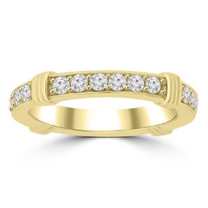 Madina Jewelry Yellow 0.75 Ct Ladies Round Cut Diamond Eternity Band Ring