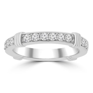 Madina Jewelry White 0.75 Ct Ladies Round Cut Diamond Eternity Band Ring