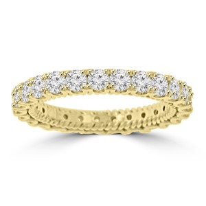 Madina Jewelry Yellow 2.05 Ct Ladies Round Cut Diamond Eternity Band Ring