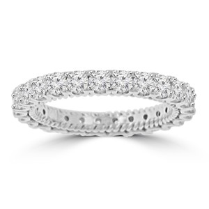 Madina Jewelry White 2.05 Ct Ladies Round Cut Diamond Eternity Band Ring