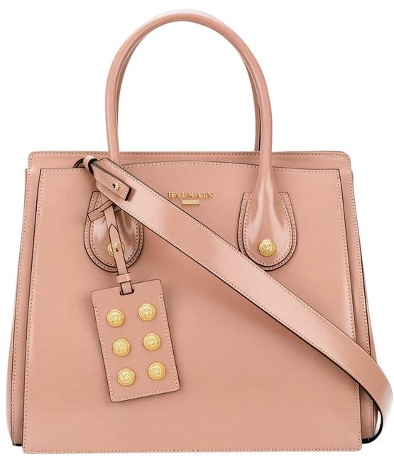 Item - 3 D Top Handle Pink Blush Convertible Calfskin Leather Tote