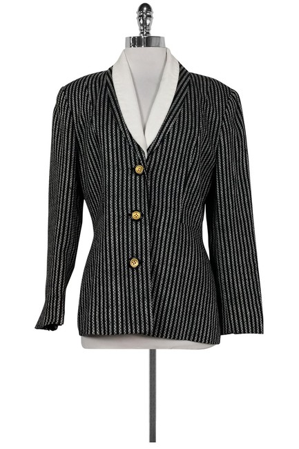 Dior White Striped Black Blazer