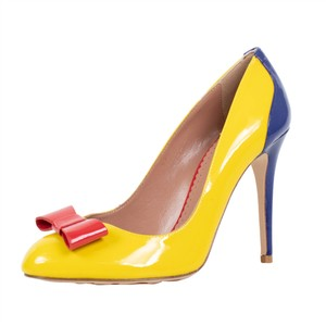 RED Valentino Heel Once Upon A Time Bow Yellow Pumps
