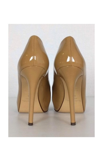 Kate Spade Beige Patent Leather tan Platforms