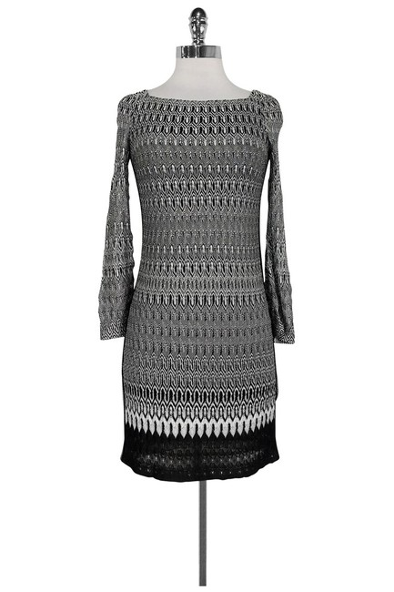 9b80061322dc7 Missoni short dress Black White Knit on Tradesy Image 0 ...